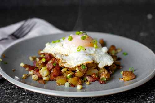Breakfast is my favourite meal of the day. And this hash has bacon in it - how can you go wrong? Via Smitten Kitchen.