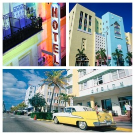Sights of Miami, Florida. Colourful, colourful sights.