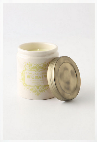 A recent find, this candle make my condo smell like freshly-baked pastries. Vanilla + Pears + Whipped Cream...mmmm.