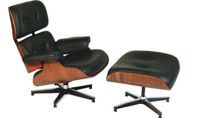 "Original Eames chair and ottoman. Also known as - ""The Big Comfy Chair""."
