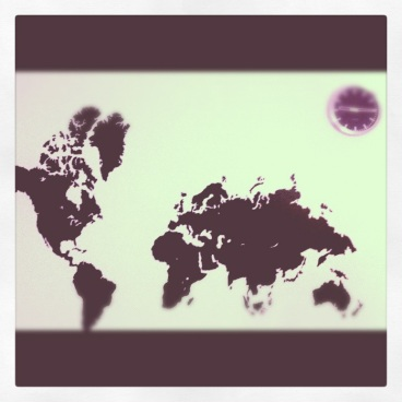 Got the whole world on a wall