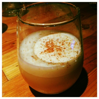 Made to order eggnog at County General