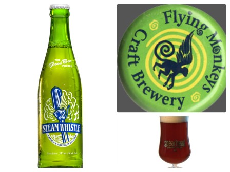 Some local goodies: Steamwhistle, Flying Monkeys, and Spearhead