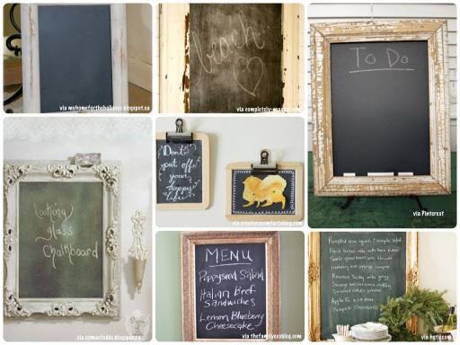 chalkboard in frames