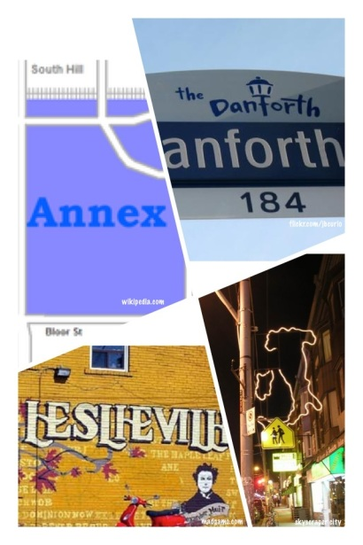 Top neighbourhood contenders - the Annex, the Danforth, Leslieville and Little Italy