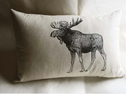 This decorative pillow fits nicely with the Canadian animal vibe. Via Sparrow Avenue.