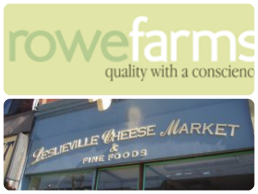 Local meats from Rowe Farms and amazing cheese from Leslieville Cheese Market.