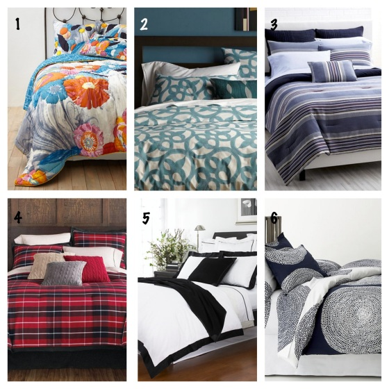 A few cool bedding sets: 1 - 2 - 3 - 4 - 5 - 6 -