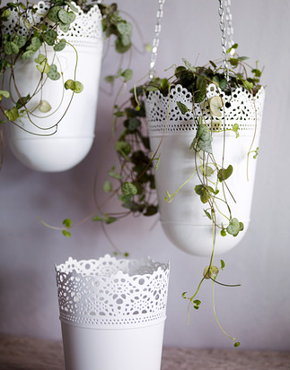 Ikea White Hanging Planter