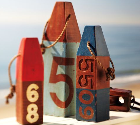 Add a nautical element in the city with these cute decorative buoys from Pier One Imports