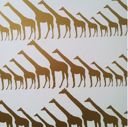 I love this pattern for a kid's room or nursery. From Jill Malek, c/o Apartment Therapy.