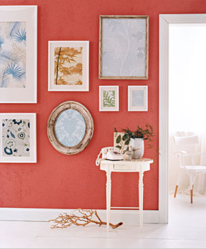 If you're not quite ready to take the plunge on a full wall or even a full room of wallpaper, you can simply take a sheet of it and frame it up for a touch of design and unique pattern in a room. Via Real Simple.